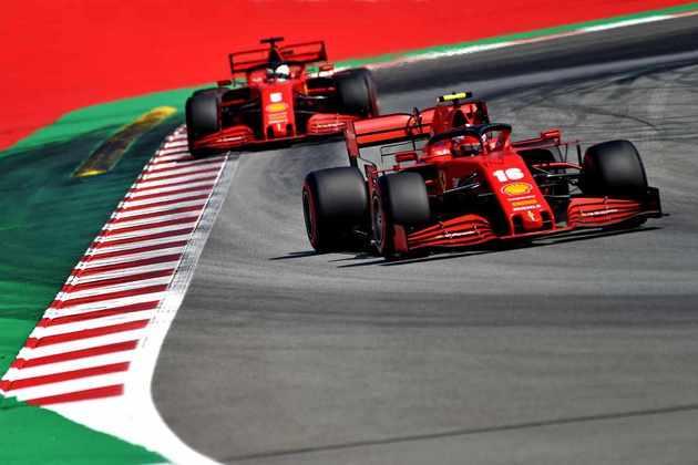 A dupla da Ferrari novamente não foi bem na classificação