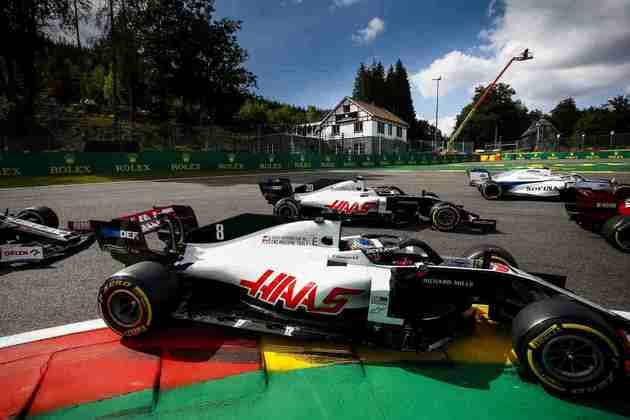 A dupla da Haas fez boa largada, mas não manteve o ritmo ao longo da prova