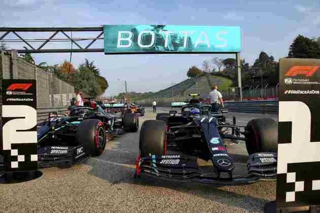 A dupla da Mercedes novamente fechou a primeira fila do grid