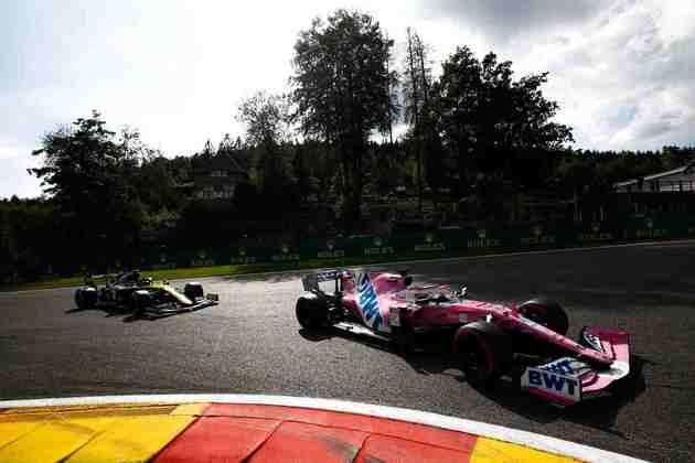 A dupla da Racing Point mais uma vez marcou presença na zona de pontuação