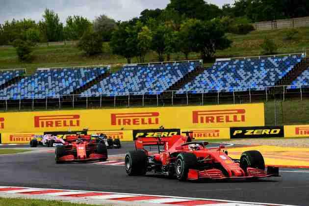 A dupla teve desempenho distinto na Hungria, com Vettel teminando em sexto