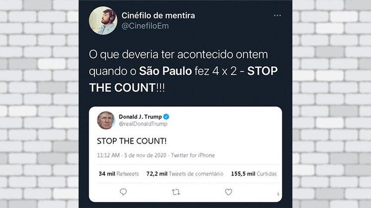 A eliminação do São Paulo para o Lanús na última quarta-feira foi lembrada por um torcedor do Tricolor