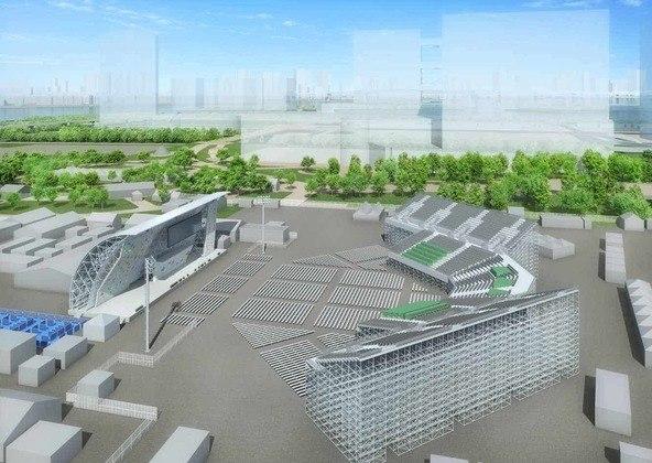 A escalada esportiva fará sua estreia como modalidade dos Jogos Olímpicos no Parque Aomi Urban Sports. O local é próximo à Vila dos Atletas e tem vista para a bonita Baía de Tóquio.
