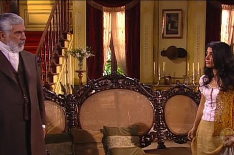 Sebastião compra Rosa e deixa Malvina enfurecida