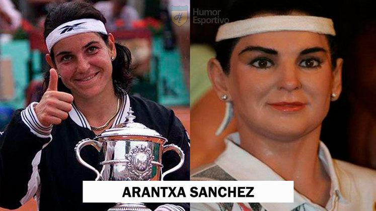 A escultura da ex-tenista espanhola Arantxa Sánchez já usava botox antes de virar moda