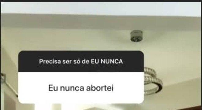 A esposa de Thammy Miranda respondeu sobre aborto