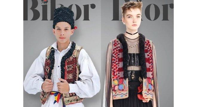 Região de Bihor produz casacos como o usado pelo menino da esquerda há mais de cem anos
