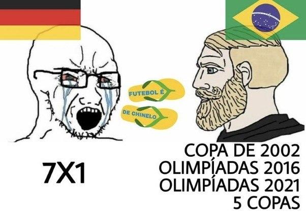 A estreia do Brasil no futebol foi com vitória sobre a Alemanha. Motivo de sobra para relembrarmos como o 7 a 1 foi somente um acidente.