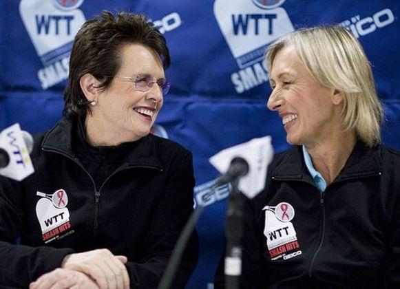 A ex-tenista Billie Jean King (esquerda) é pró-Partido Democrata.