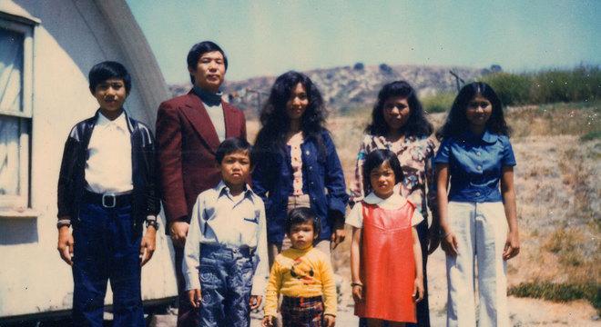 A família de Ted no campo de refugiados