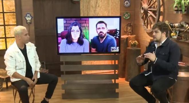 Viny conversou com apresentador da live, Lucas Salles