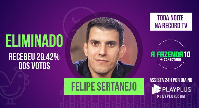 Felipe Sertanejo se despede da competição
