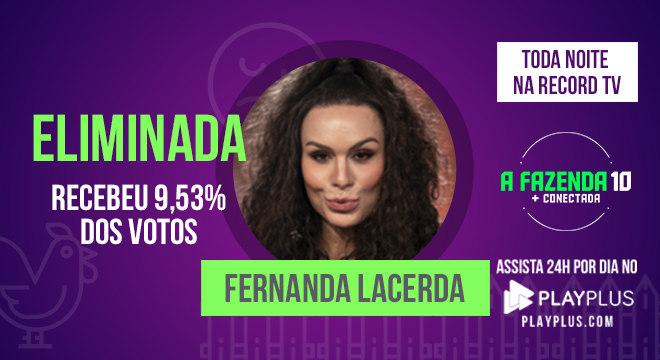 Fernanda Lacerda se despede de A Fazenda