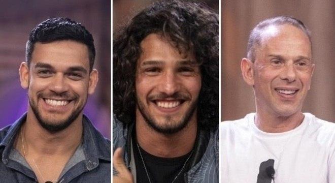 Caique Aguiar, João Zoli e Rafael Ilha são os finalistas de 'A Fazenda'
