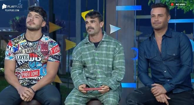 Lucas, Jorge e Rodrigo Phavanello estão na Roça desta semana
