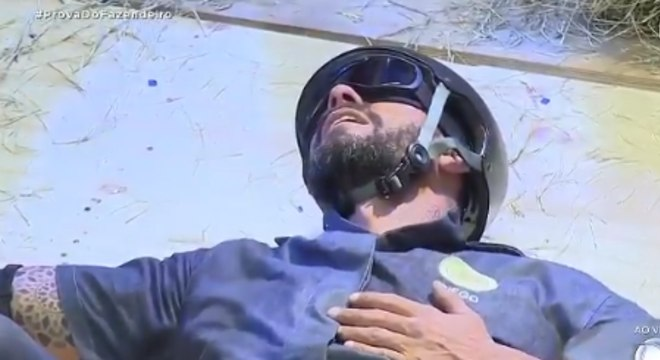 Diego Grossi desistiu da prova por sentir dores no joelho