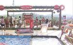 Depois de uma festa #TBT, os peões foram premiados com uma Pool Party e puderam curtir o feriado do Dia das Crianças com brincadeiras elooks mais despojados na piscina