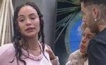 """Vendo a situação de Rico, Gui Araujo provocou: """"A babá já vai pegar um lencinho umedecido"""", referindo-se a Aline, que não gostou nada do comentário. Com calma, a peoa argumentou que tinha direito de ser amiga de quem quisesse, mas não conseguiu evitar as lágrimas enquanto Gui a aconselhava a se afastar de Rico"""