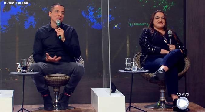 Leo Dias e Fabíola Reipert participam do Paiol Tiktok