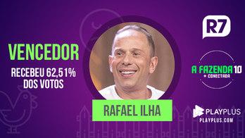__Rafael Ilha é o grande vencedor de _A Fazenda_ com 62,51% dos votos__