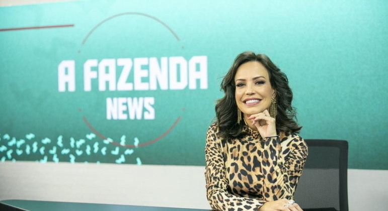 Fabiana Oliveira comandará diariamente o programa A Fazenda News