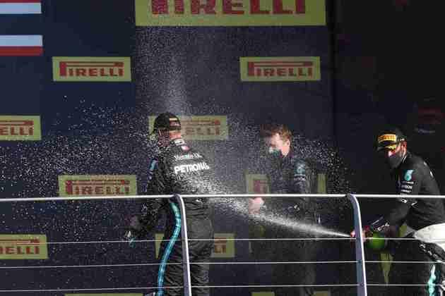 A festa da Mercedes no pódio do GP da Toscana