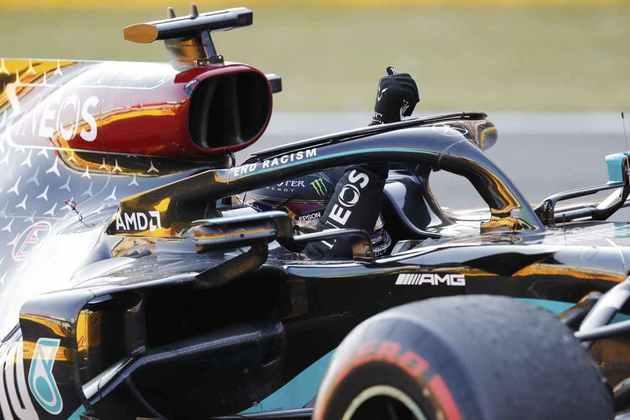 A festa de Lewis Hamilton com a 90ª vitória na Fórmula 1