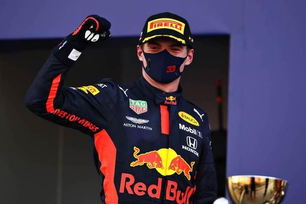 A festa de Max Verstappen pela segunda posição no GP da Rússia