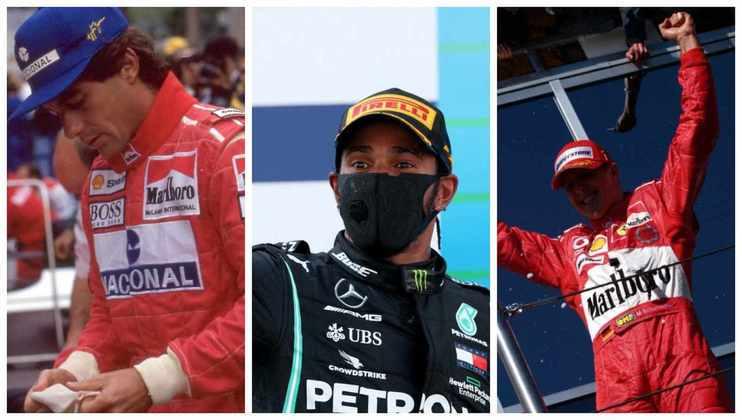 A Fórmula 1 se aproxima de um novo recordista no número de vitórias. Que tal relembrar os 20 maiores vencedores da categoria? Confira a seguir: