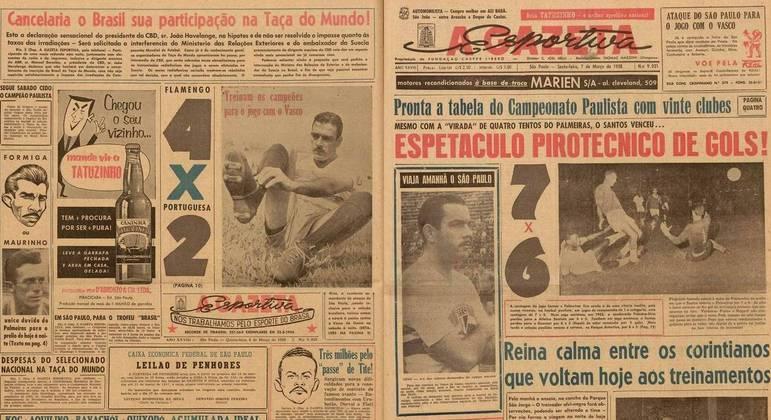 """""""A Gazeta Esportiva"""" de 7 de Março de 1958"""
