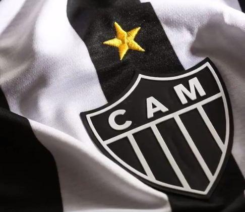 A grande estrela amarela acima do escudo do Atlético-MG representa a conquista do Campeonato Brasileiro de 1971, a primeira edição com o nome que está até hoje.