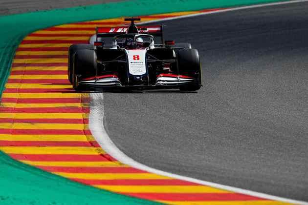 A Haas, como todas as equipes empurradas por motor Ferrari, sofreu em Spa (Foto: Haas)