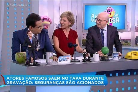 Geraldo Luis, Keila Jimenez e Renato Lombardi