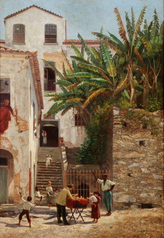 A Hora do Pão (1888): uma das últimas obras da pintora retrata a periferia do Rio de Janeiro