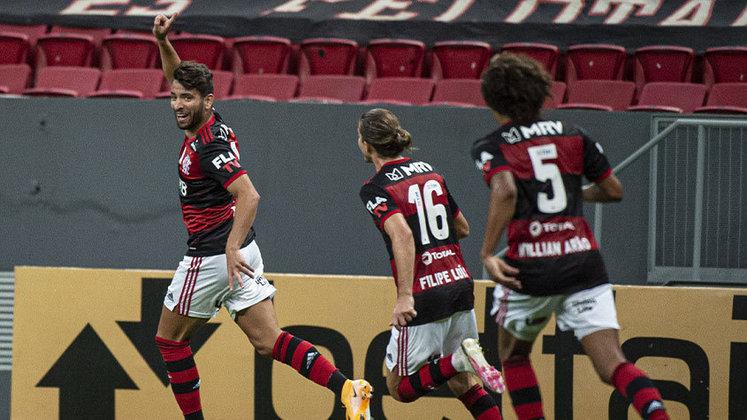 A importante vitória do Flamengo contra o Palmeiras na última quinta-feira, pela 31ª rodada do Brasileiro, foi por 2 a 0 e contou com um gol de Pepê. O jovem foi o 24º autor de gol do clube nesta temporada, cujo maior artilheiro é o Pedro. Veja o ranking da artilharia interna a seguir.