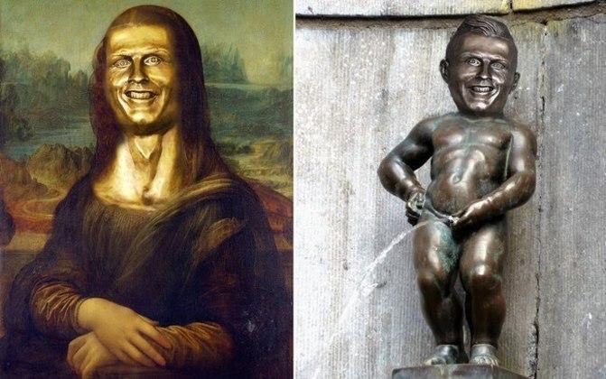 A internet, claro, não perdoou o busto de CR7
