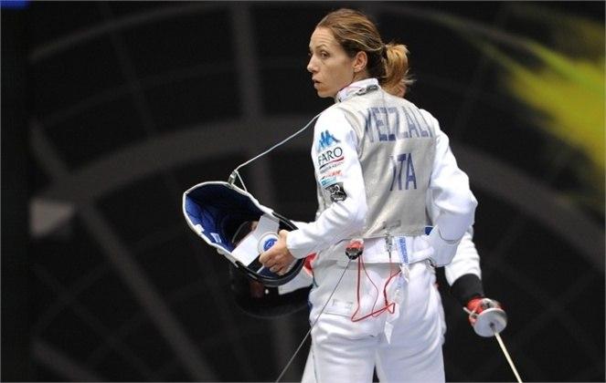 A Itália figura em sexto lugar no ranking histórico de medalhas de ouro. Atletas italianos levaram 206 ouros. A esgrimista Valentina Vezzali (foto) conquistou seis, recorde ao lado de Edoardo Mangiarotti.