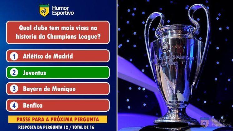 A Juventus amarga 7 vice-campeonatos da Champions League