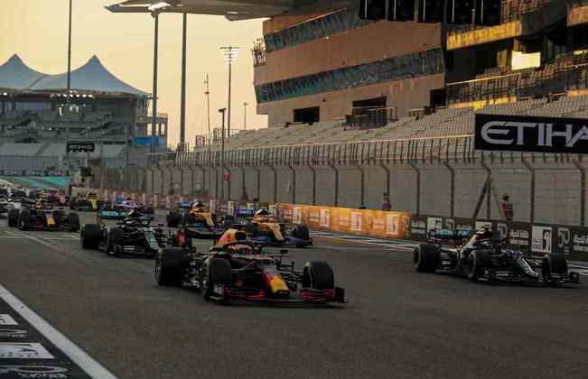 A largada da F1 em Abu Dhabi