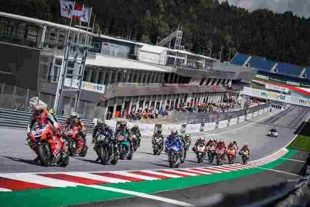 A largada do circuito austríaco