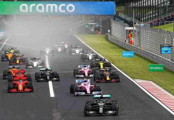 A largada do GP da Hungria não teve grandes incidentes