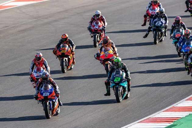 A largada do GP de Portugal