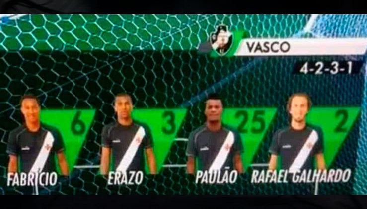 A linha defensiva do Vasco no início de 2018 era motivo de pesadelo dos torcedores cruzmaltinos.