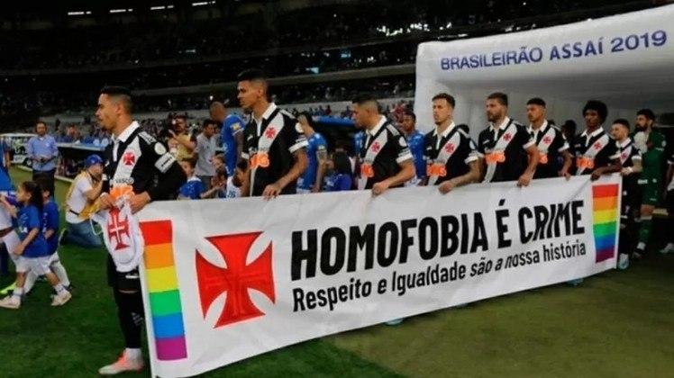 A luta contra toda forma de preconceito sempre esteve presente na história do Vasco. Em 2019, por exemplo, o clube também exaltou a causa e defendeu um basta a violência, homofobia e transfobia.