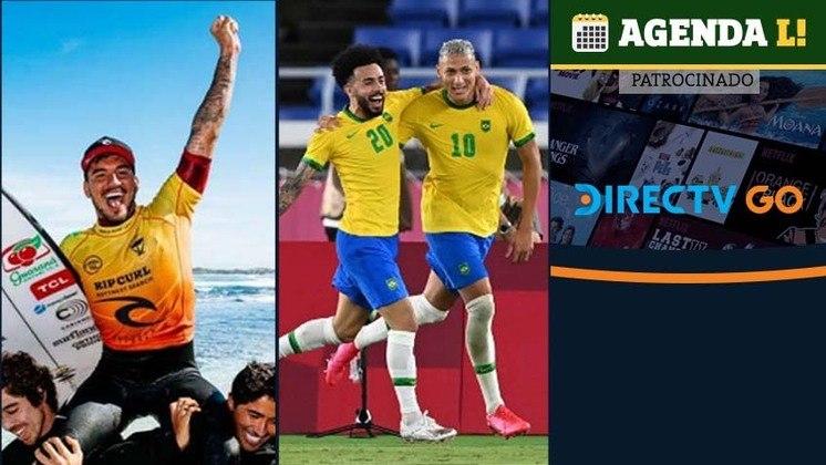 A madrugada de sábado para domingo tem futebol, vôlei, handebol e muito mais. Confira a agenda completa, sempre no horário de Brasília.