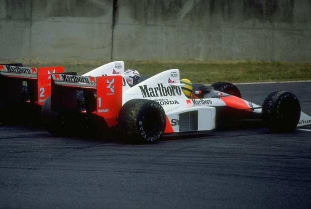 A mais famosa batida entre companheiros de equipe foi entre Ayrton Senna e Alain Prost no GP do Japão de 1989
