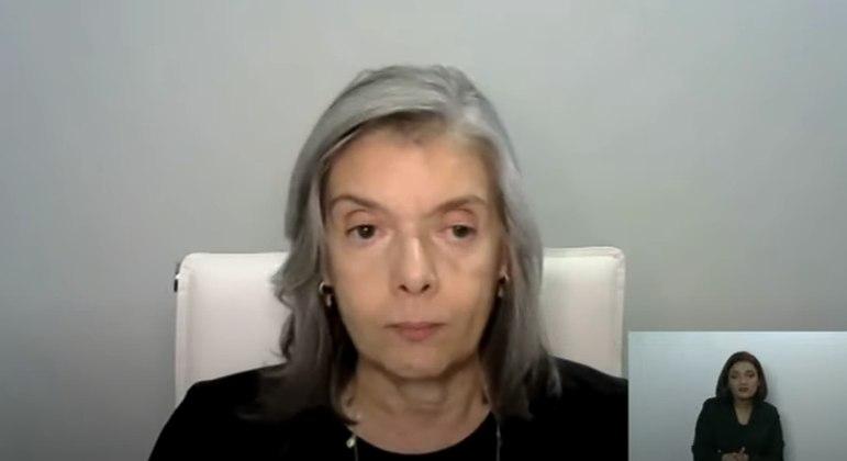 A ministra Cármen Lúcia, do STF