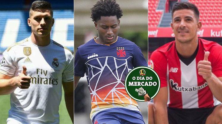 A movimentação no mercado do futebol segue intensa. Nas últimas horas, o Vasco acertou uma série de renovações com jovens formados no clube e os clubes europeus estão atrás de reforços para a próxima temporada. Confira as informações nesta galeria!