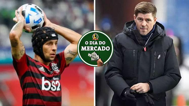 A negociação entre Flamengo e Rafinha ganhou um novo capítulo que pode definir o destino do lateral brasileiro. Gerrard pode estar de mudança para a Inglaterra após especulações surgirem nos bastidores do Rangers. Tudo isso e muito mais no Dia do Mercado de quinta-feira.