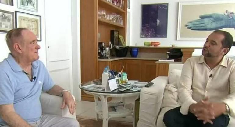 Renato Aragão abriu a casa para receber Geraldo Luís em noite de estreia